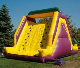 inflatable rock wall slide rent